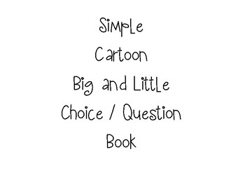 Simple Cartoon Big and Little Book