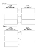 Simple Cause and Effect Graphic Organizer