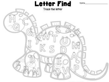 Simple Center- Dinosaur Alphabet Toss