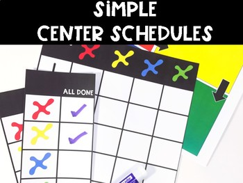 Simple Center Schedules