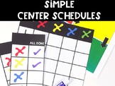 Simple Center Schedules