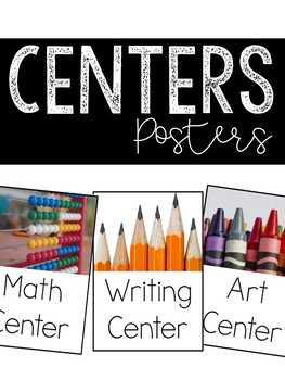 Simple Center Signs (Room Decor Posters)
