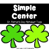 Simple Center- St. Patrick's Day Alphabet Toss