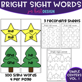 Simple Centers - Bright Sight Word Puzzles with Recording