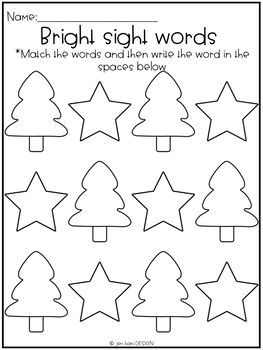 Simple Centers - Bright Sight Word Puzzles with Recording Sheets {Vol. 1}