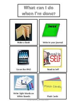 Simple Centers Cue Cards