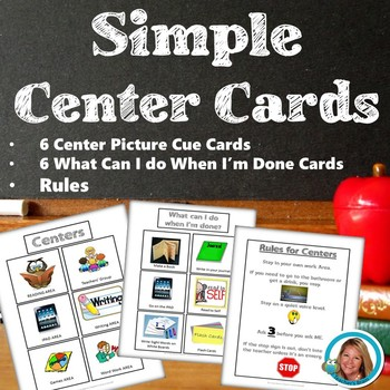 Simple Centers Cue Cards