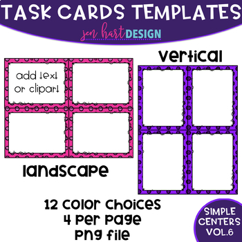 Simple Centers - Task Card Templates {Vol.6}
