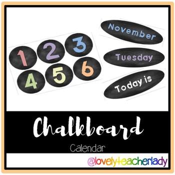 Simple Chalkboard Calendar