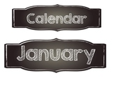 Simple Chalkboard Calendar Headers and Numbers