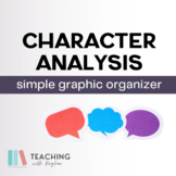 Simple Character Analysis Graphic Organizer