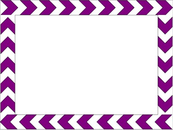 Simple Chevron Borders PowerPoint Template by Activities by Jill
