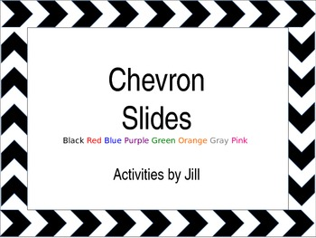 Simple Chevron Borders PowerPoint Template