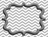 Simple Chevron with Bracket Frame Template