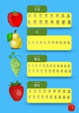 Simple Chinese Characters Worksheet [Fruits vocabulary]