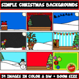 Simple Christmas Backgrounds Clipart (Boom Card Size also included)