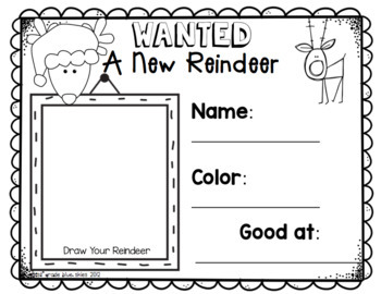 Reindeer Christmas Glyph & Art Kinder Craft- Simple & Easy