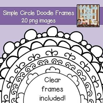 Simple Circle Doodle Frames