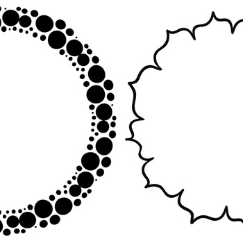 Simple Circle Frames, 9 Inch Digital Circle Borders, Round Frame Photoshop Brush
