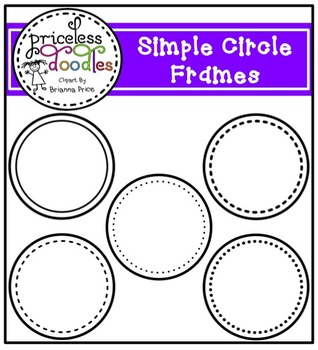 Simple Circle Frames (The Price of Teaching Clipart Set)
