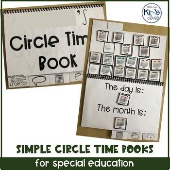 Morning Meeting Flip Books for Special Ed, includes digital Google Slides™