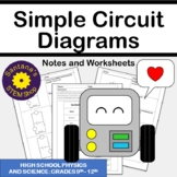 Simple Circuit Diagrams: Notes and Worksheets