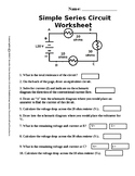 Simple Circuit Series Worksheet