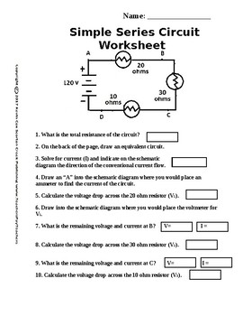 Simple Circuit Series Worksheet