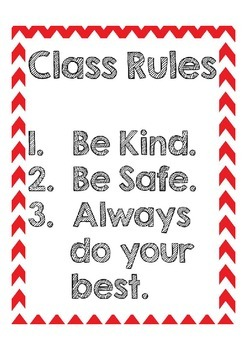 Simple Class Rules Freebie