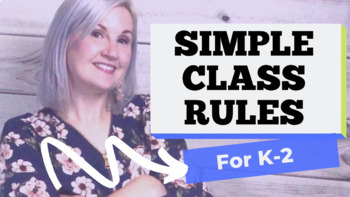 Simple Class Rules for Primary Grades (Pre-K, Kindergarten, 1st & 2nd)
