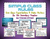 Free Class Rules for the Secondary Teacher