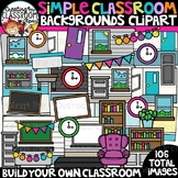 Simple Classroom Background Clipart {Classroom Clipart}