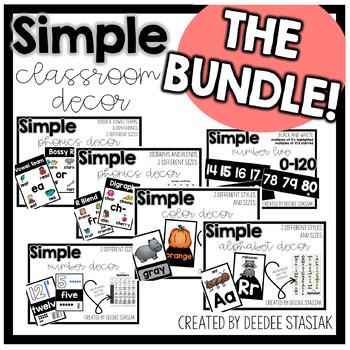 Simple Classroom Decor THE BUNDLE!