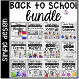 Simple Classroom Decor Bundle for Preschool, Pre-K, TK, Kindergarten, & 1st