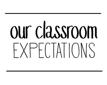 Simple Classroom Expectations Posters (with hashtags!)
