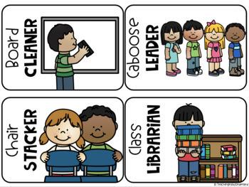 Simple Classroom Jobs Classroom Decor