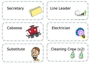 Simple Classroom Jobs Labels-- Editable