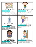 Simple Classroom Jobs with clipart & descriptions