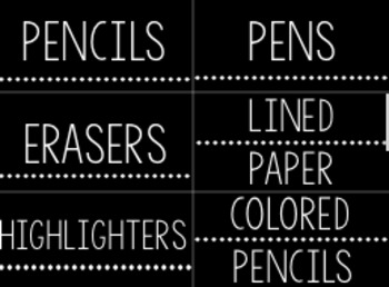 Simple Classroom Labels and Decor