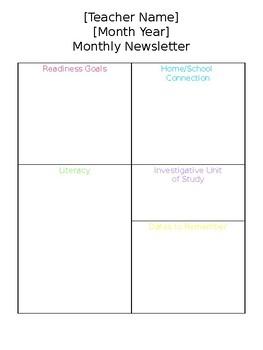 Simple Classroom Newsletter