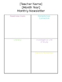 Simple Classroom Newsletter
