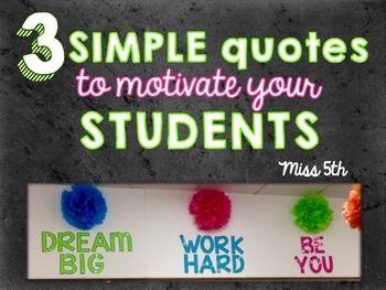 Simple Classroom Quotes
