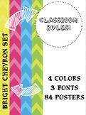 Simple Classroom Rules Poster Set Chevron