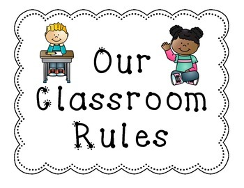 Simple Classroom Rules Posters