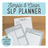 SLP Planner 2020-2021 {With FREE yearly updates!}