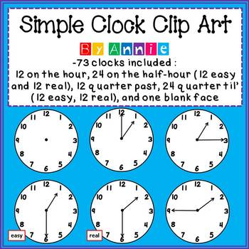 Simple Clock Clip Art by Annie