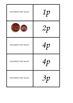 Simple Coin Dominoes (UK coins)