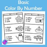Simple Color By Number Fine Motor Special Education