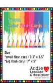 Color Flash Cards - Crayon Shape 11 Basic Color ; ESL kindergarten flash cards
