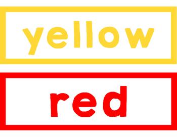 Simple Color Words Display
